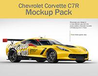 Chevrolet Corvette C7R Mockup Pack