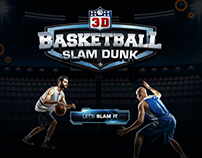 Slam Dunk Real Basketball | 3D Game Design | GUI