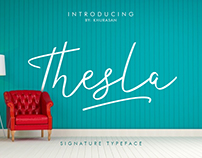 Thesla Script Font
