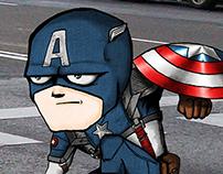 Cap.America- ilustración digital