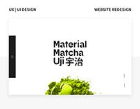 Material Matcha Uji - Website redesign