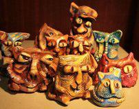 Cats ceramic
