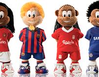 Bear League football mascots. The official