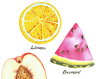 food illustration/patterns