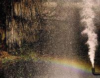 Human made rainbow