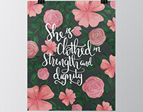 Floral Handlettered Quote