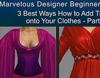 Free Marvelous Designer Tutorial: Adding Fancy Trims P1