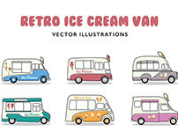 Retro Ice Cream Van Illustrations