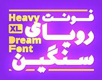 Si47ash Heavy Dream Font [Latin & Persian/Arabic]