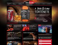 Jack & Coke website