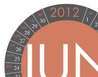 Circular Typographic Calendar