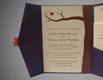 Fall Wedding Invitations - Leaf Us Be