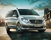 Illustration for the new V-Class Mercedes