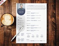 Freebie : Professional Resume Template Free PSD