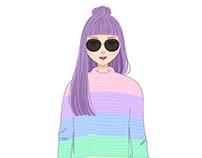 #bloggerillustration : Style Peaches