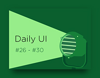 Daily UI challenge #26-30