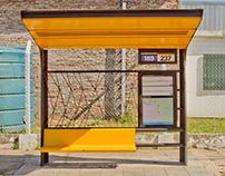 Refugios de colectivos - Diseño de piezas informativas