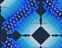 3-D design electrical circuit processor attachment.