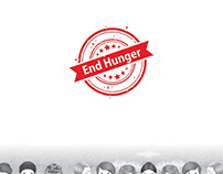 End Hunger logo design