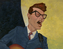 Caricature: Buddy Holly
