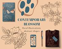 Contemporary blossom clip art collection