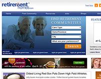 RetirementHomes - UI, App, Social designs.