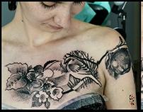 tatuaż z mchu i paproci :)