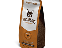 Bo's Beans Coffee brand packaging