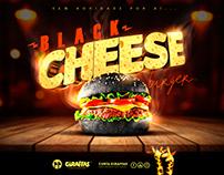 Giraffas - Black Cheese Burger