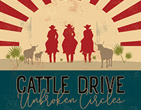 Poster - The Great Florida Cattle Drive - Logo Design