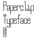 Paperclip Typeface