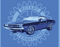 Rotary Club Car Show Poster Series