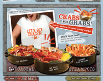 Joe's Crab Shack Website Re-Skin