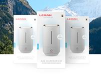 Packaging design for LERAN air humidifier