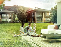 architectural rendering retouch