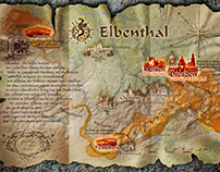 Overview map for the Elbenthal saga