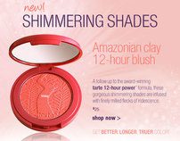 Amazonian clay shimmer blush newsletter