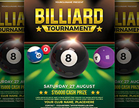 Billiard/Snooker Tournament Flyer