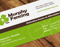Murphy Fencing Business Card