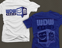 "WDWRadio ""Box People"" logo and T-shirt Design"