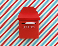 DIY mini post box + mail