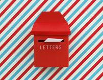DIY mini post box + mail