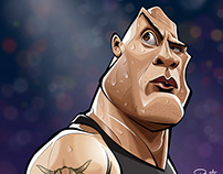The Rock - caricature