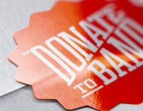 Donate to Band Brand Identity and Website Design