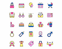 Mother's Day Icons Set