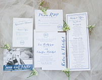 Classic, southern wedding invitation suite