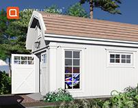 Attefallshus Garage New England