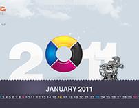 2011 Calendar wallpaper