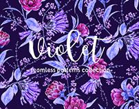 VIOLET watercolour patterns