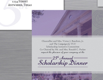 TCU 25th Annual Scholarship Dinner Invitation Suite